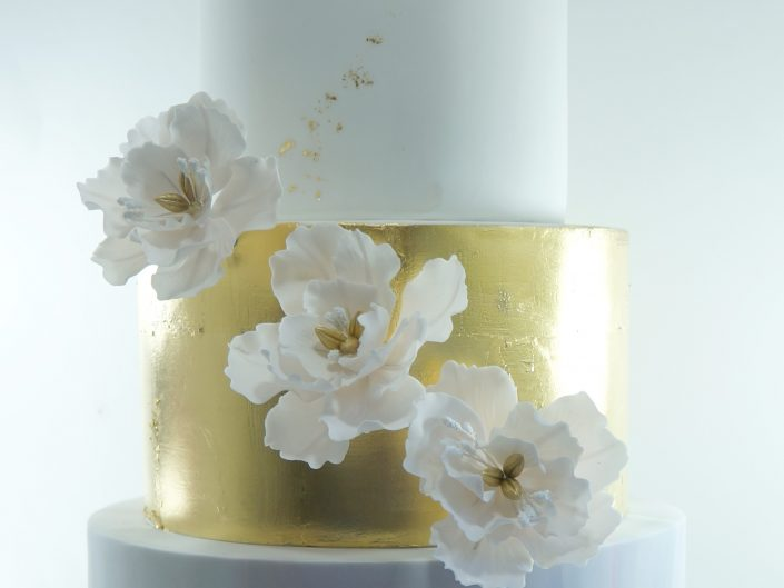 Gold & Marble Wedding Cake