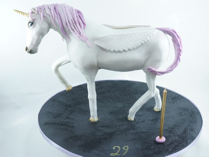 White beauty Unicorn Cake