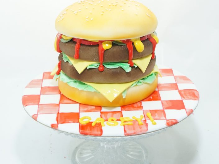 Double Cheese Burger Cake