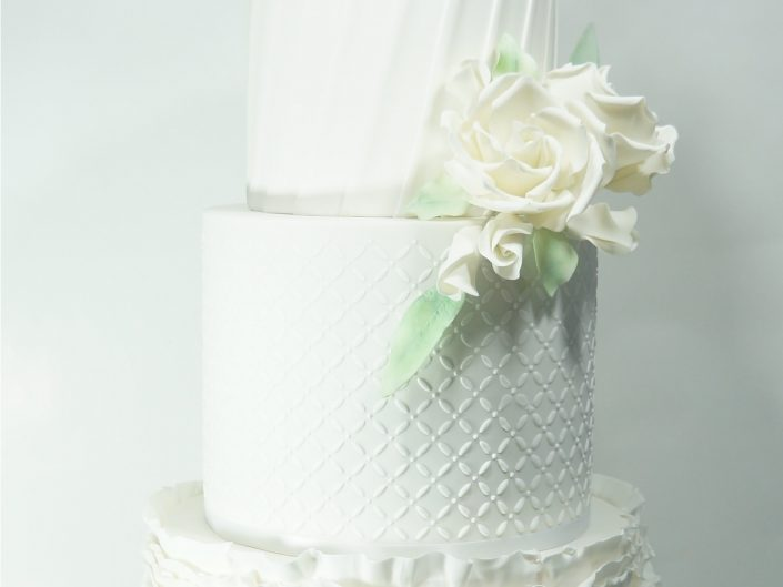 The All White Wedding Cake