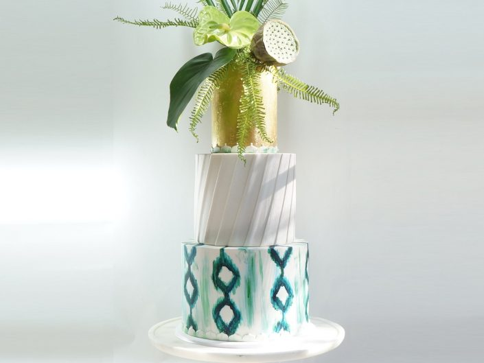 Tropical Bohemian Wedding Cake