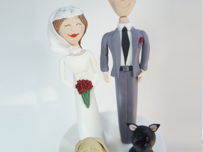 Bride & Groom with pups