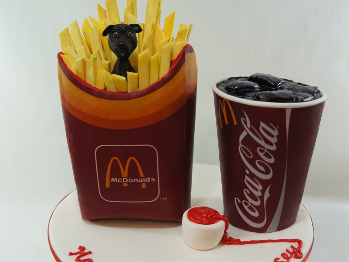Novelty all edible Fries and Coca Cola