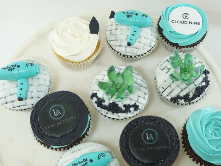 Luxe Artistry Hair Salon cupcakes