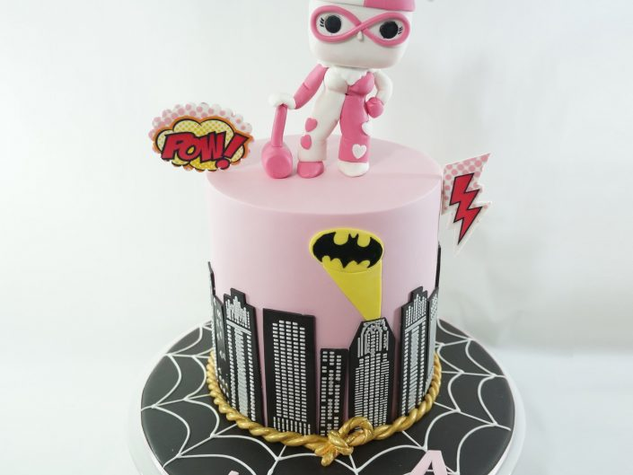 Harley Quinn POP Super Hero cake