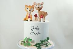 Boho woodlands baby cake