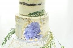 Sugar geode wedding cake
