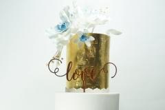 Blue cyclades wedding cake