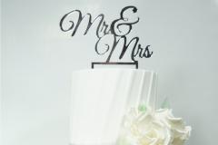 The all white wedding cake