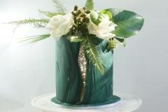 Tropical pearl wedding cake