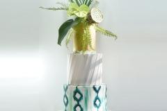 Tropical bohemian wedding cake