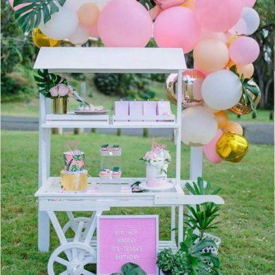 ALFIE CART pink tropical