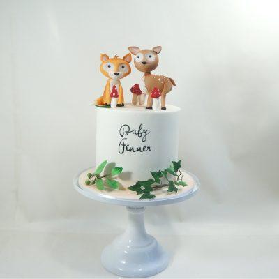 Baby shower boho fox